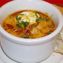 Taco Soup II Recipe - This is a really good and easy recipe. Top with shredded cheese, and serve with chips.