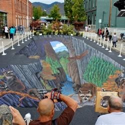 This group was amazing....Sidewalk Art Expo in Grants Pass, Oregon