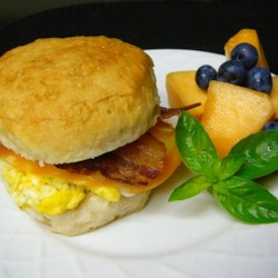 Breakfast Biscuits Recipe and Video - The homemade version of fast food breakfast biscuits. You can exchange toppings to fit your taste buds. My kids love them!