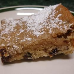 Banana Chocolate Chip Dessert  Recipe - These banana and chocolate chip bars are quick and easy.