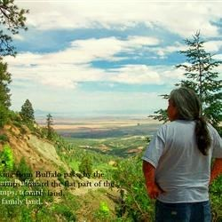 s-i-l Norman looking down on Red Valley and his family's lands
