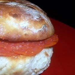Pepperoni-filled Bread Recipe - Excellent served with a tossed salad or as a snack.