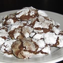 Brown Sugar Chocolate Crackle Cookies Recipe - Chocolate cookies that crack when you bake them.