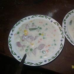 Nonnie's Ham Chowder Recipe - Nothing beats a warm bowl of chowder, especially when it's chock full of ham, potatoes, and vegetables.
