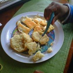 The Boy loves breakfast