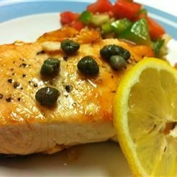 Pan Seared Salmon with Capers