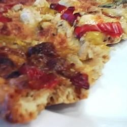 Chicken Pizza with Capsicums