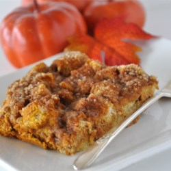 Pumpkin French Toast Bake Recipe - A delicious breakfast indulgence, perfect for those crisp autumn Saturday mornings.