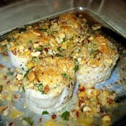 Pecan Baked Scallops
