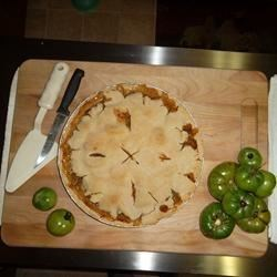 Green Tomato Pie I Recipe - A great way to use those end-of-season tomatoes! This is my mom's recipe.