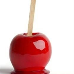 Candied Apples Recipe - This recipe uses black currant syrup, the type used to flavor drinks, to give the candied apples a beautiful red candy coating.