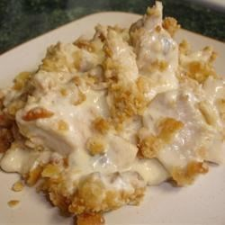 Easy Chicken Casserole Recipe and Video - A bit of soup and sour cream make a nice little sauce for baked chicken, and you can add some vegetables, too. This may be the perfect family dinner--it freezes and reheats well, and kids love it.
