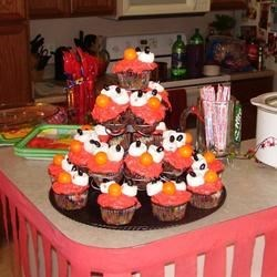 Elmo Cupcakes for Birthday Party