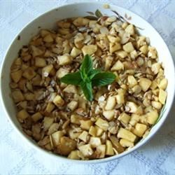 Haroset for Passover Recipe - Sweet and tasty Haroset is made with apples, cinnamon, honey and sweet wine. Serve chilled or at room temperature.