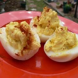 Ranch-Style Deviled Eggs Recipe - This is a basic deviled egg with a little twist of ranch.