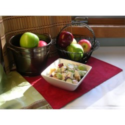 Jenny's Sweet Waldorf Salad Recipe - I couldn't ever find the perfect Waldorf salad - one that wasn't too mayonaise-y tasting, yet one that still held enough of the original flavor to be called a Waldorf. So I mixed and matched and experimented, and finally came up with a perfect twist on the classic Waldorf Salad recipe. Now I get requests for it at every family get together!