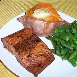 Maple Teriyaki Salmon Barbeque