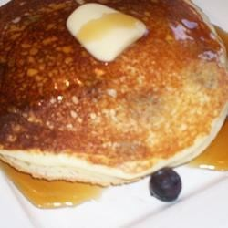 Ricotta Cheese Pancakes Recipe - Yummy pancakes with the unexpected addition of ricotta cheese and blueberries. Serve with your favorite condiments.