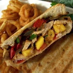 Amazing Southwest Cilantro Lime Mango Grilled Chicken Sandwiches Recipe and Video - This is a recipe I came up with while trying to figure out what to do with stuff I had on hand.  It was so good my husband asked me to publish it and share it with the world.  Southwestern food is my specialty.  It is especially good with the Fabulous French Loaves recipe on this site.