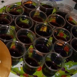Berry Shooters Recipe - 'Shots' made with fruity gelatin and triple berry vodka.