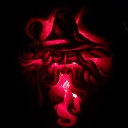 Red light in pumpkin