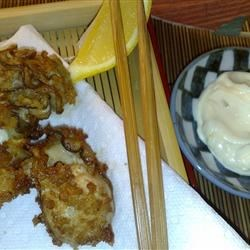 Marvel's Japanese Fried Oysters (Kaki Fuh-rai) with Lemony Tartar Sauce Recipe - Oysters breaded in panko and fried in vegetable oil are great for dipping in a homemade tartar sauce in this Japanese-influenced preparation.