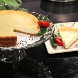 Jalapeno Lime Cheesecake Recipe - Lime-flavored cheesecake is given a little extra flavor with the addition of fresh jalapeno pepper. Sweet with a hint of heat at the end. Yum!