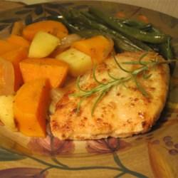 Golden Chicken and Autumn Vegetables