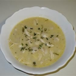 Chicken and Dumplings III Recipe - Boneless skinless chicken thighs are cooked in water and a can of cream of celery soup in this stew with refrigerated biscuits for dumplings.