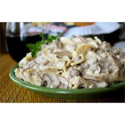 Simple Hamburger Stroganoff Recipe and Video - This ground beef Stroganoff is full of flavor, but wallet-friendly and easy enough for a weeknight.