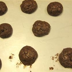 a batch of truffle cookies