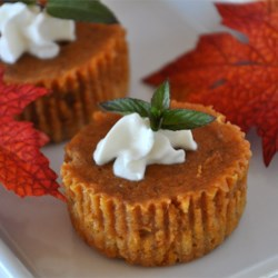 Pumpkin Pie Squares Recipe - An oaty brown sugar crust topped with spiced pumpkin, baked and cut into bars.