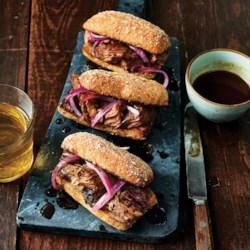Slow-Cooker Flank Steak Au Jus Sandwiches
