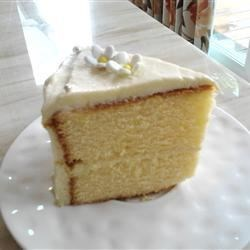 Lemon Gold Cake Recipe - This easy cake recipe makes a good lemon-flavored cake perfect for any occasion.