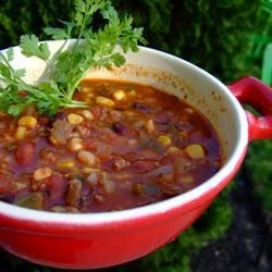 Smokin' Scovilles Turkey Chili Recipe - This is a hearty and relatively low-fat chili recipe that is guaranteed to satisfy even the most sadistic spicy food lover...REAL MAN FOOD.