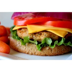 Turkey Meatloaf Burgers Recipe - The secret ingredient that keeps this turkey burger extra moist is the addition of applesauce! Serve this seasoned burger with your favorite toppings.