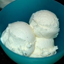 Vanilla  Ice Cream Recipe - No cooking involved in this recipe for homemade ice cream using just cream, sugar, and vanilla with your ice cream maker.