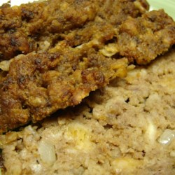 Yummy Meatloaf Recipe - Ground beef, chopped onion, egg, and crumbled saltines are combined, seasoned with steak sauce, and baked in a 9 X 13 inch baking dish for about 1 hour.