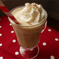 Eggnog Coffee Punch Recipe - Fast and easy to make, this holiday drink decked with whipped topping and nutmeg mixes prepared eggnog with coffee ice cream and hot coffee.