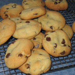 Chewy Jumbo Chocolate Chip Cookies Recipe - These are chewy, soft and smooth, not the crispy texture of regular chocolate chip cookies.