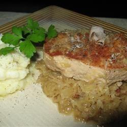 Chops with Sauerkraut