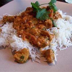 Indian-Style Butter Chicken (Murgh Makhani) Recipe - Red chiles, cinnamon, nutmeg, cloves, ginger, and garlic all lend their robust flavors to this popular Indian dish.