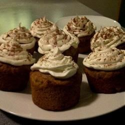 Pumpkin Spice Cupcakes with Cream Cheese Icing and Cinnamon Dusting