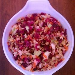 Cranberry Walnut Slaw Recipe - This delicious, colorful slaw is tart, sweet, and perfect for the holidays!