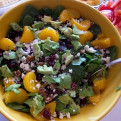Cranberry, Glazed Walnut, Orange, Avocado, and Blue Cheese Salad  Recipe - A festive salad for those special holiday meals is easy to make, and combines the bright fall flavors of cranberries, orange, glazed walnuts, and blue cheese. Avocado adds an elegant touch.