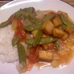 Braised Green Beans with Fried Tofu
