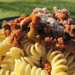 Rotini with Bolognese Sauce