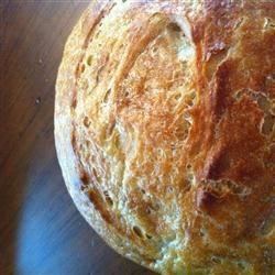 San Francisco Sourdough Bread Recipe - This white bread brings yeast and starter together for a guaranteed rise.  A topping of diced onion gives extra kick.