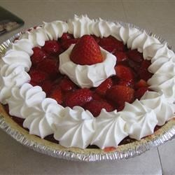 Fresh Strawberry Pie III Recipe - Even without the strawberry glaze, this pie would be wonderful. But do you think you can resist how the luscious glaze coats each berry so that each bite is a sweet burst of strawberry? Serve with vanilla ice cream or unsweetened whipped cream.