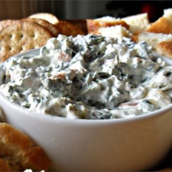 Best Spinach Dip Ever Recipe - A flavorful spinach dip with water chestnuts fills a tasty bread bowl. The perfect recipe for entertaining.